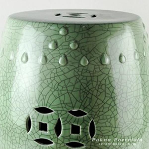 Pleasing Ryyv03 Crackle Green Ceramic Stool All Ceramic Stool Gamerscity Chair Design For Home Gamerscityorg
