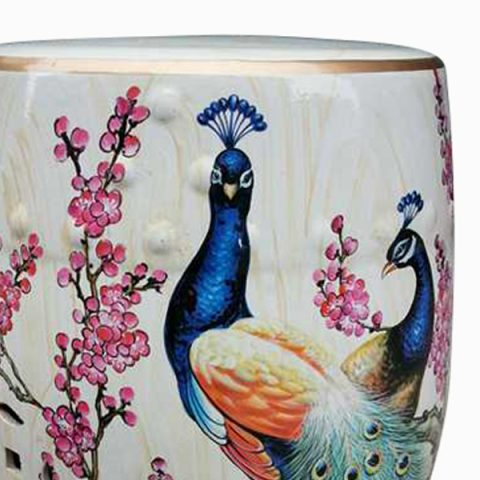 Admirable Ryzs06 Patio Outdoor Ceramic Stool Peacock All Ceramic Gamerscity Chair Design For Home Gamerscityorg