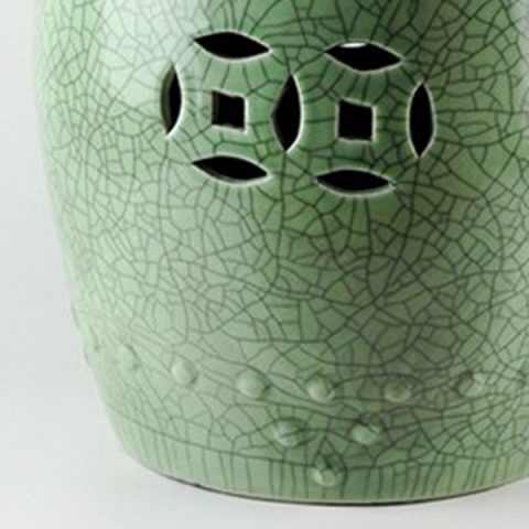Charmant RYYV03_Crackle Green Ceramic Stool U2013 ALL Ceramic Stool/ Porcelain Garden  Stool