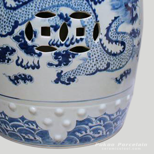 Rylu12 Chinese Antique Furniture Blue And White Painted