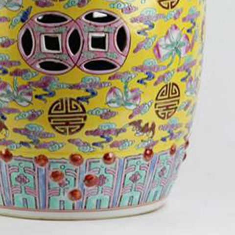Famille rose Qing Dynasty syle ceramic stool