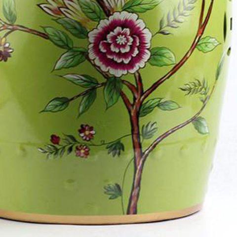 RYYL08_ Bird Floral Pattern New Arrival Ceramic Patio Stool U2013 ALL Ceramic  Stool/ Porcelain Garden Stool