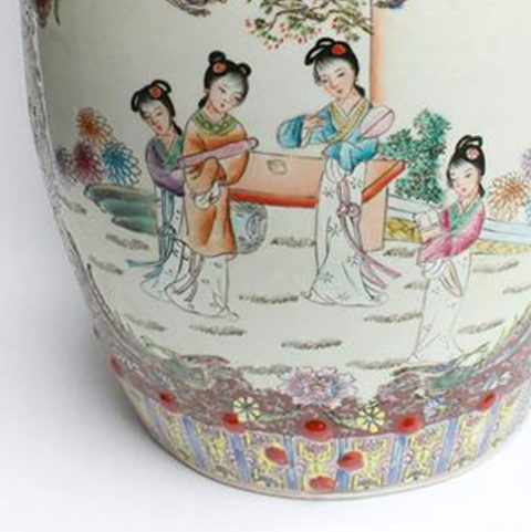 RZAH02_FAMILLE ROSE CHINESE PORCELAIN GARDEN SEAT STOOL PAINTED LADY PHOENIX FLORAL u2013 ALL Ceramic stool/ porcelain garden stool & RZAH02_FAMILLE ROSE CHINESE PORCELAIN GARDEN SEAT STOOL PAINTED ... islam-shia.org