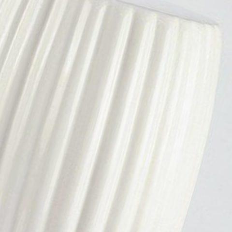 Matte White Stripe Pleated Ceramic Patio Stool.Garden Stools, Garden Stool,  Ceramic Garden Stool, Modern Garden Stools, Porcelain Garden Stool, ...