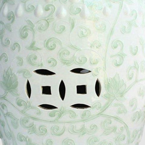 RYNQ13Celadon ceramic outdoor garden stool ALL Ceramic stool