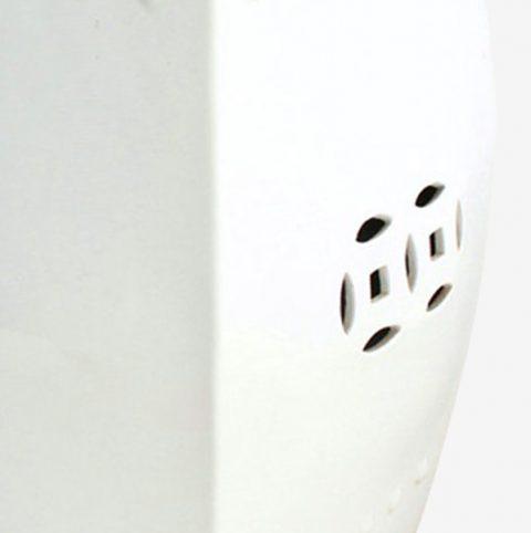 Tremendous Rynq56 White Square Ceramic Stool All Ceramic Stool Ibusinesslaw Wood Chair Design Ideas Ibusinesslaworg