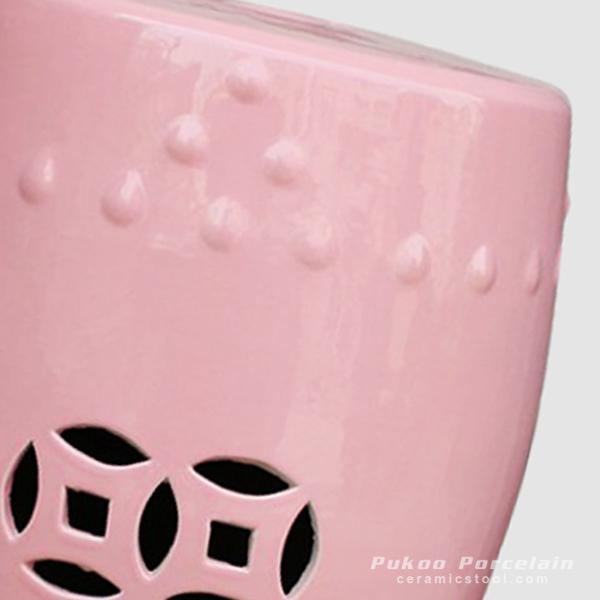 Rynq52 Ceramic Child Room Stool Pink High Temperature