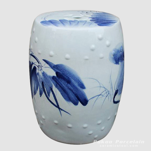 Blue and White china bar stool, hand painted