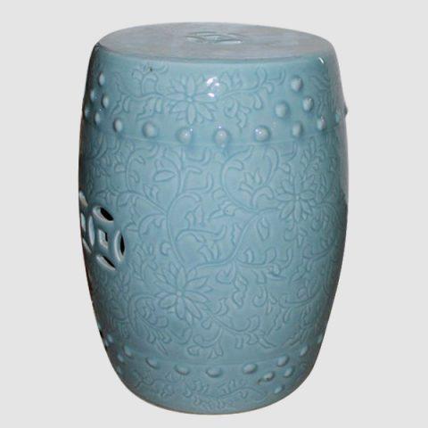 RYCN103_Ceramic Stool, High temperature fired color glaze