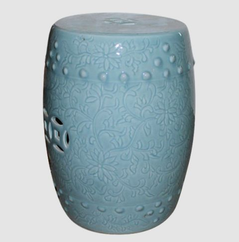 RYCN103_Ceramic Stool, High temperature fired color glaze
