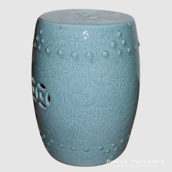 Ceramic Stool, High temperature fired color glaze
