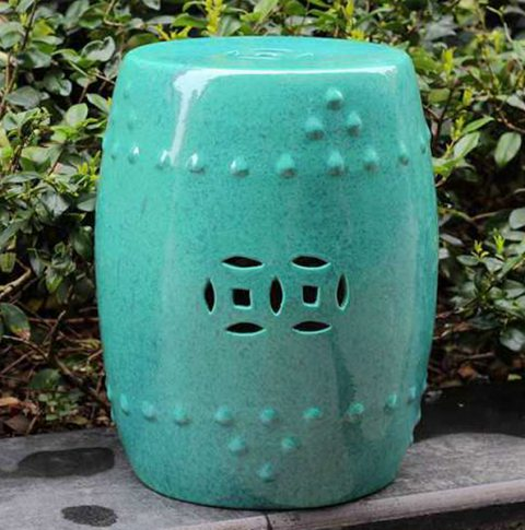 RYDB33_Color Glazed Ceramic Garden Stool