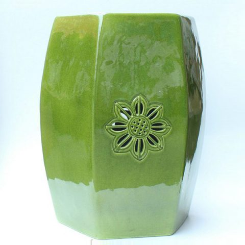 RYDB45_Ceramic green Stool