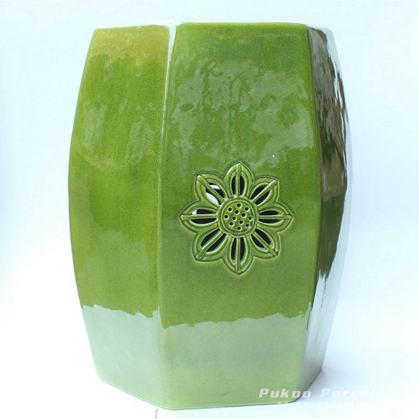 Ceramic green Stool