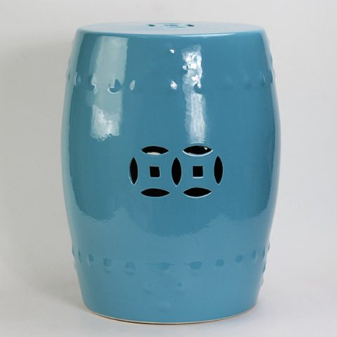 RYIR104-B_Solid Color Ceramic Garden Stool