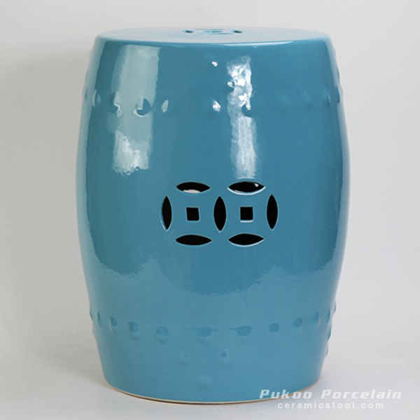 Solid Color Ceramic Garden Stool