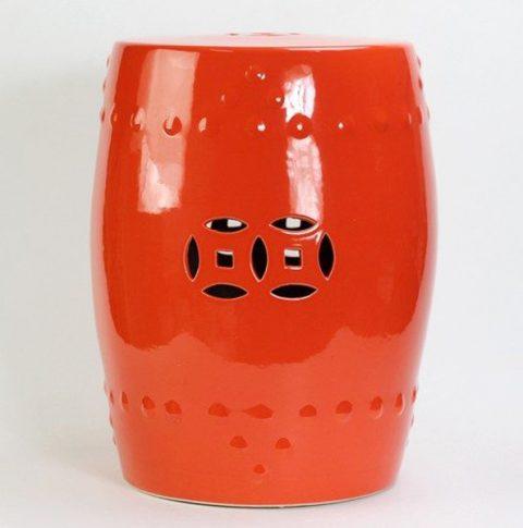 RYIR104-C_Solid Color Ceramic Garden Stool