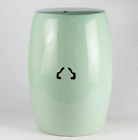 RYIR115_Celadon glaze ceramic garden stool