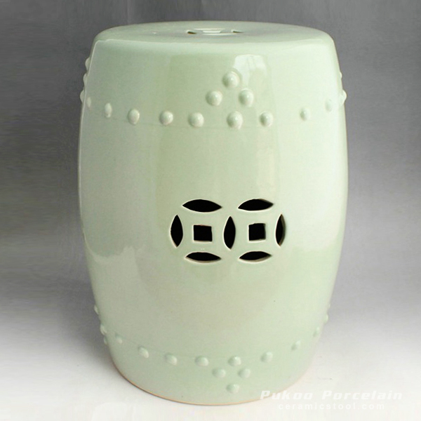 Light green ceramic kitchen stool
