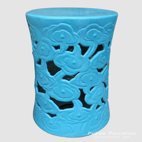 Garden ideas Blue Ceramic Cloud Stool