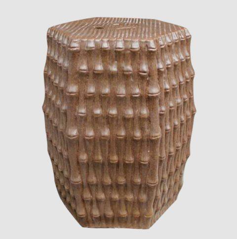 RYJF09_Outdoor Chair Ceramic Garden Seat Bamboo Design