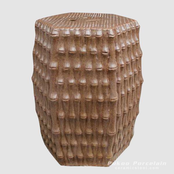Outdoor chair Ceramic garden seat bamboo design