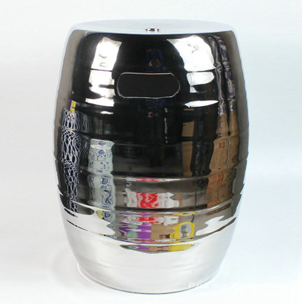 Round silver stool