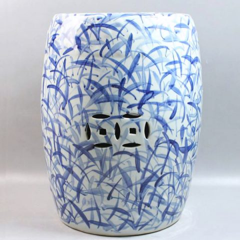 RYLL17_Blue and White Garden Furniture Direct Ceramic Stool