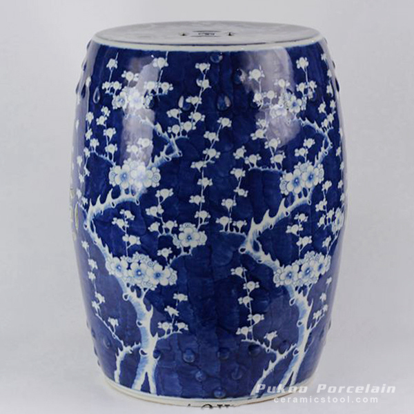 Ceramic Blue & White Plum blossom Garden Stool