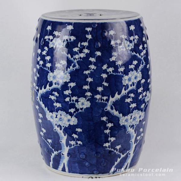 Ceramic Blue & White Plum blossom Garden Stool
