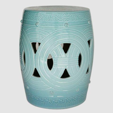 RYNQ153_Asian inspired furniture Porcelain Garden Stool
