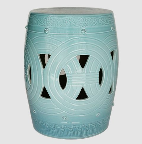 RYNQ153_Asian inspired furniture Porcelain Garden Stool