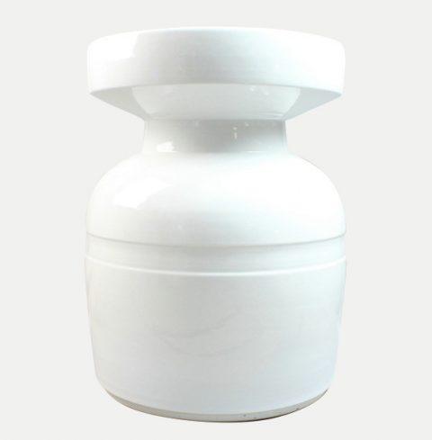 RYNQ46_White unique porcelain patio stool