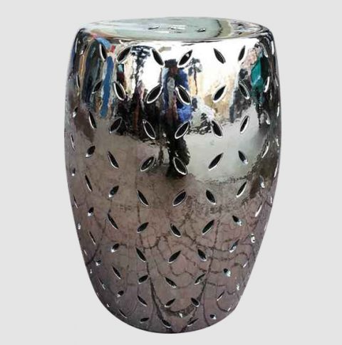 RYNQ49_Silver engraving ceramic patio rest stool