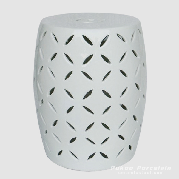 White engraving porcelain balcony rest stool