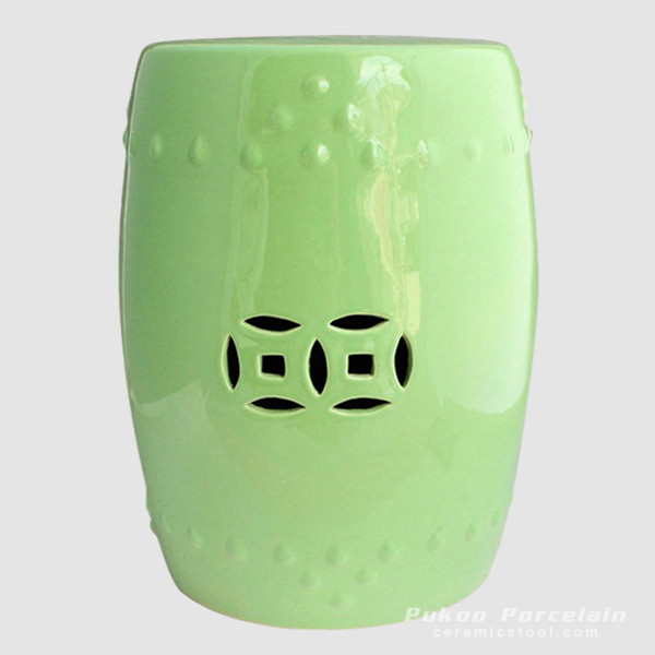 Ceramic Stool, high temperature fired, color strong never fade