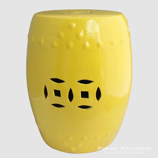 Bright yellow ceramic bathroom seat
