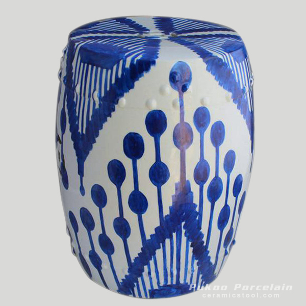 Garden furniture online Blue Ceramic Hand Painted Stool