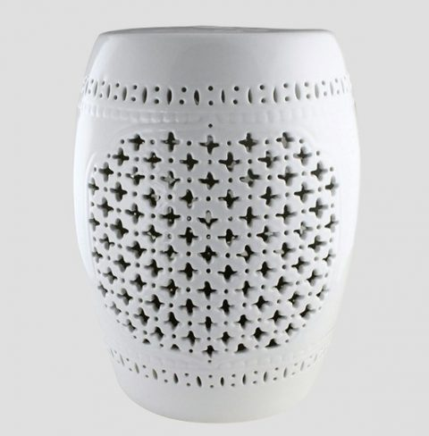 RYNQ77_Contemporary garden furniture White Garden Stool