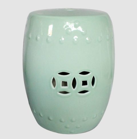 RYNQ83_Ceramic Stool, High temperature fired color glaze