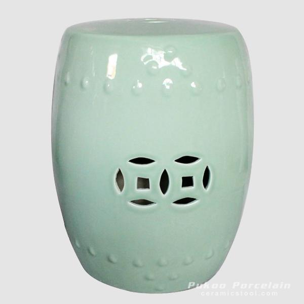 Ceramic Stool, High temperature fired color glaze