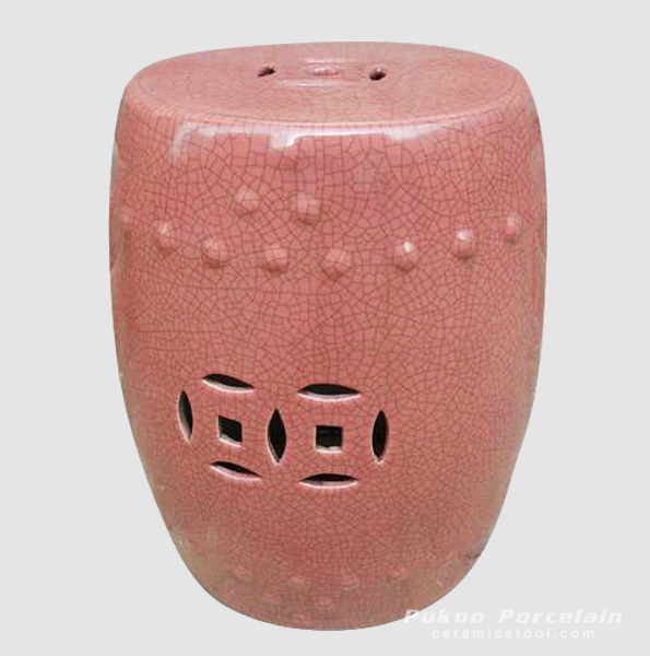 PINK CRACKLE STOOL