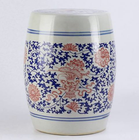 RYSP06-A_Red lotus mark blue and white ceramic barrel stool  sc 1 st  Ceramic stool : ceramic barrel stool - islam-shia.org