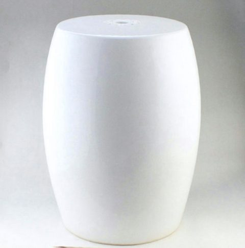 RYTP03_Garden furniture for sale Plain White Ceramic Stool