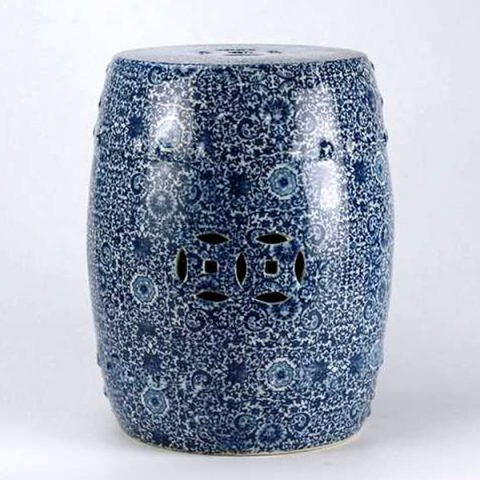 RYTX01-B_Blue white ceramic stool