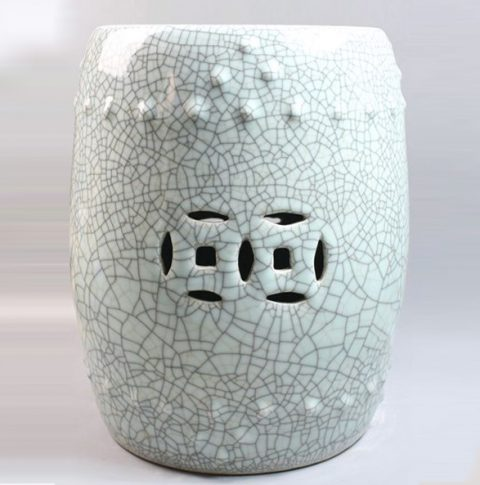 RYXC16_Chinese Crackle Glaze Garden Stool
