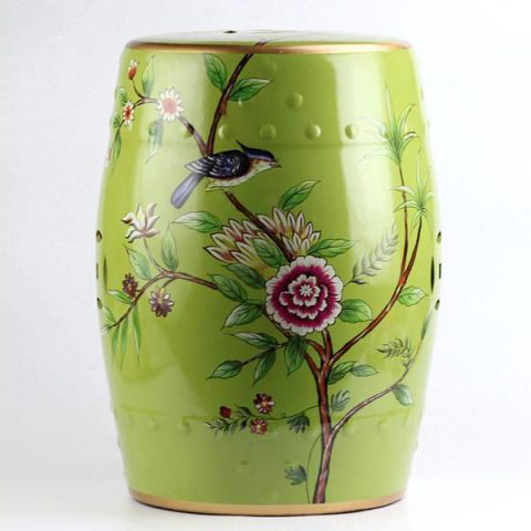 RYYL08_Bird floral pattern new arrival ceramic patio stool