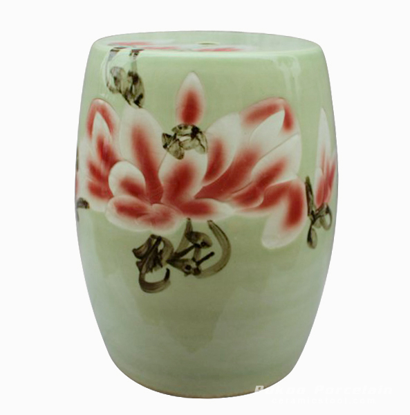 Ceramic Decorative garden seating Stool floral design