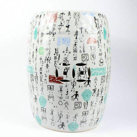 RYYY02_Porcelain Chinese garden stools Character design
