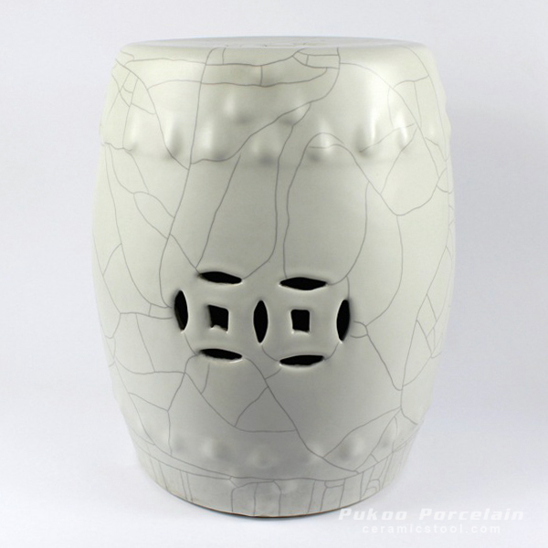 Crackle Ceramic Stool